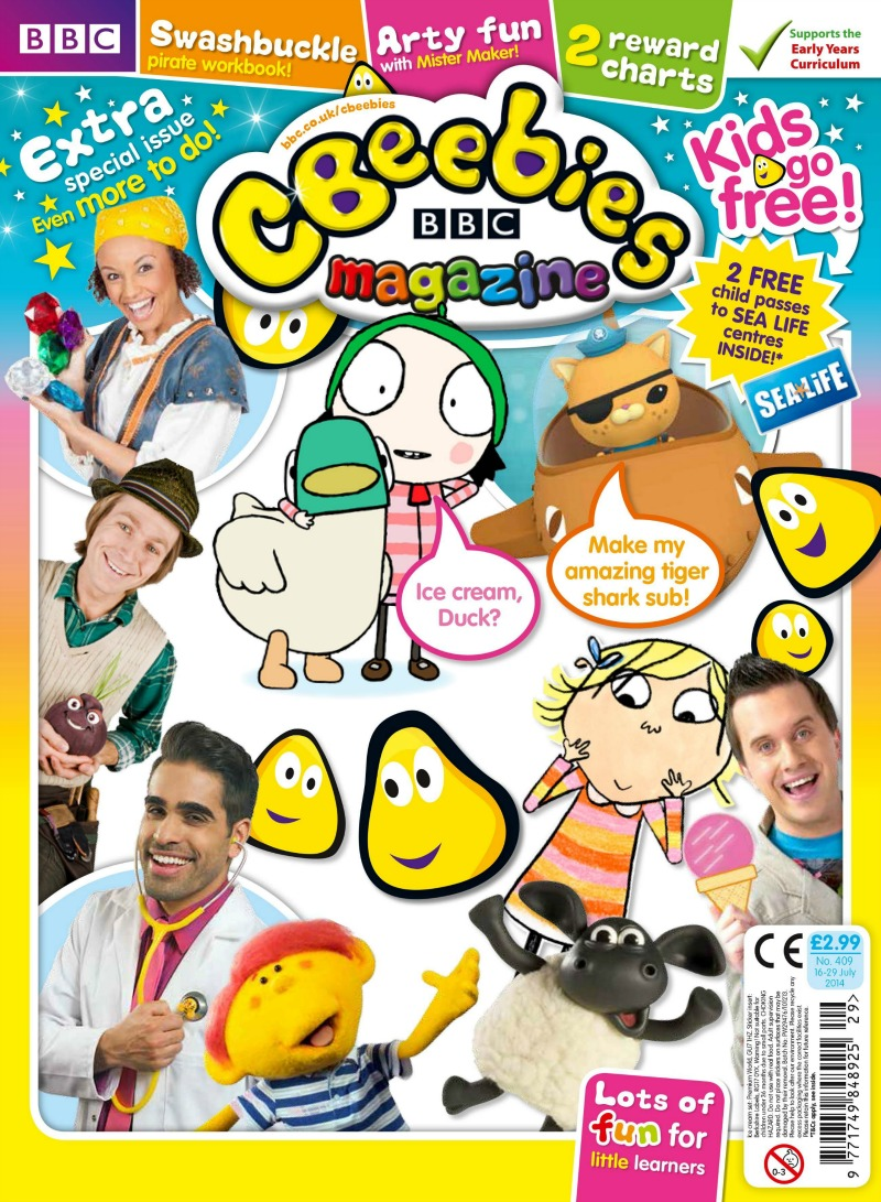 CBeebies Magazine Kids go Free Campaign #CBeebiesMagKidsGoFree - Over 40 and a Mum to One