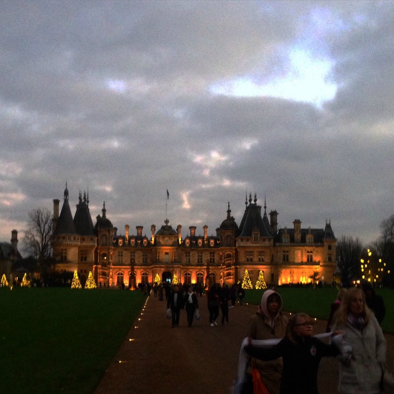 waddesdon manor at twilight countrykids over 40 and a. Black Bedroom Furniture Sets. Home Design Ideas